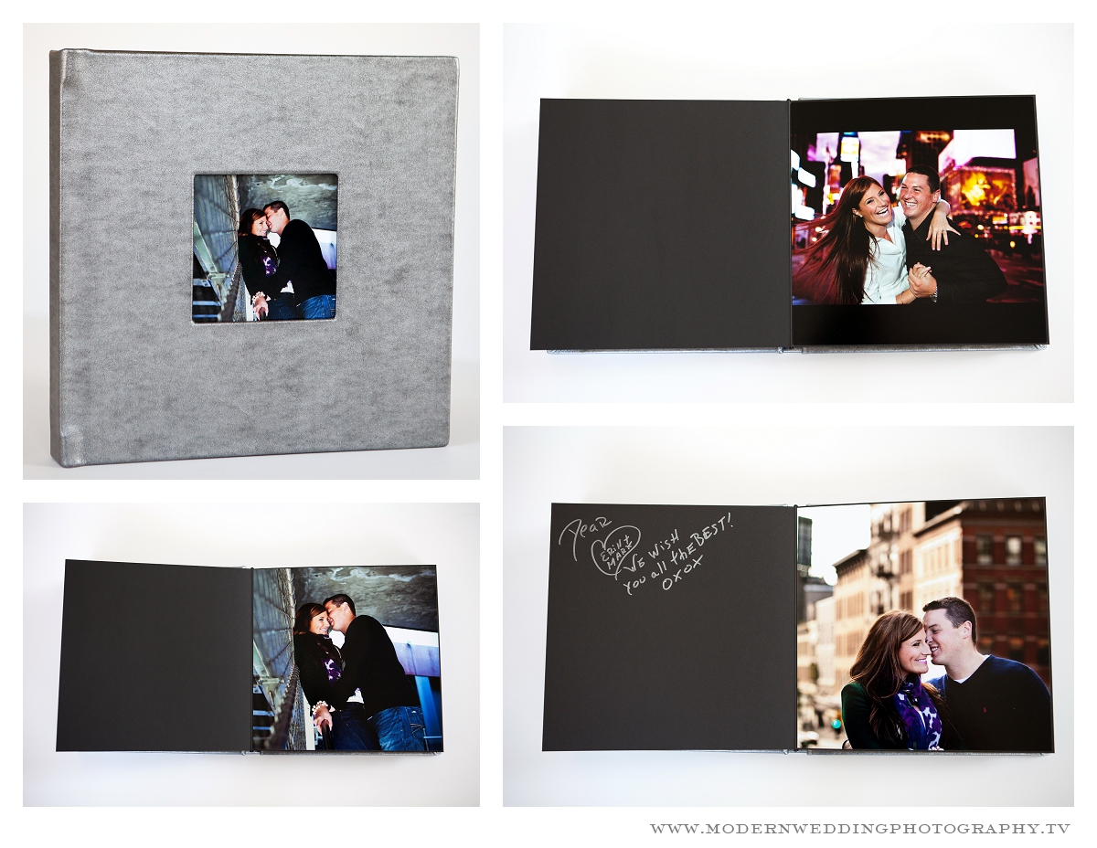 Engagement Shoots Transformed Leather Bound Fine Art Guests Books Modern Mint Guest Book